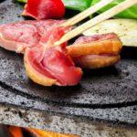 鹿児島地鶏の焼肉は溶岩焼きがオススメ♪